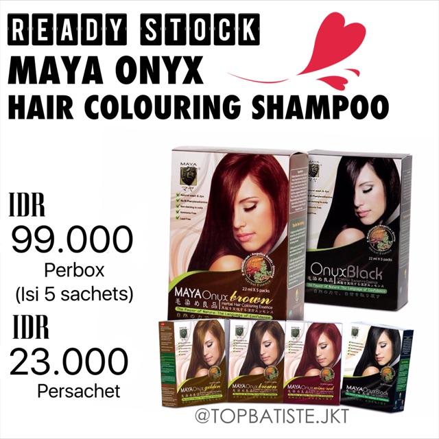 MAYA ONYX HAIR COLOURING SHAMPOO / SEMIR RAMBUT / PEWARNA RAMBUT / CAT RAMBUT | Shopee Indonesia