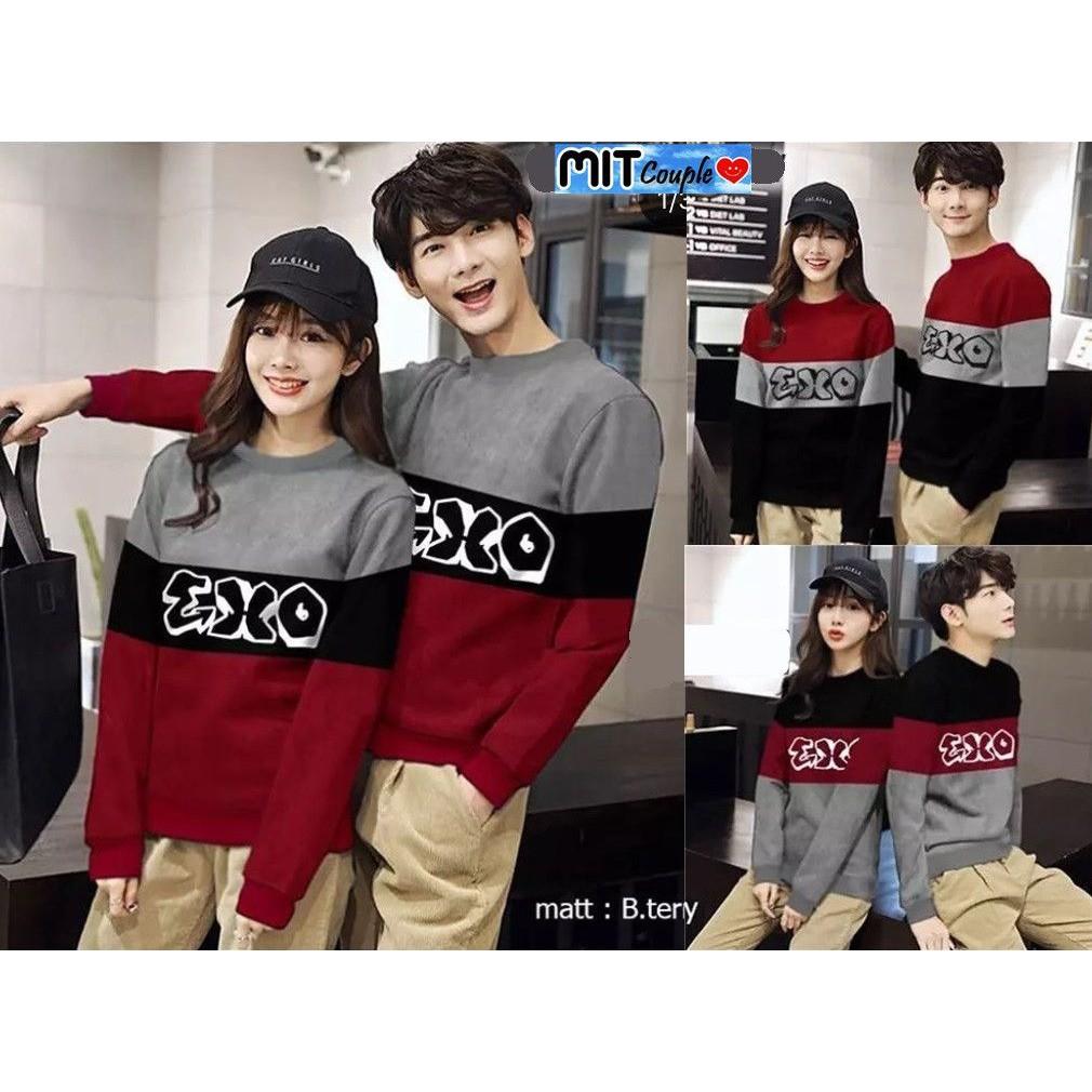 Sweater Couple / Sweater Pasangan / Baju Couple / Baju Pasangan Exo | Shopee Indonesia