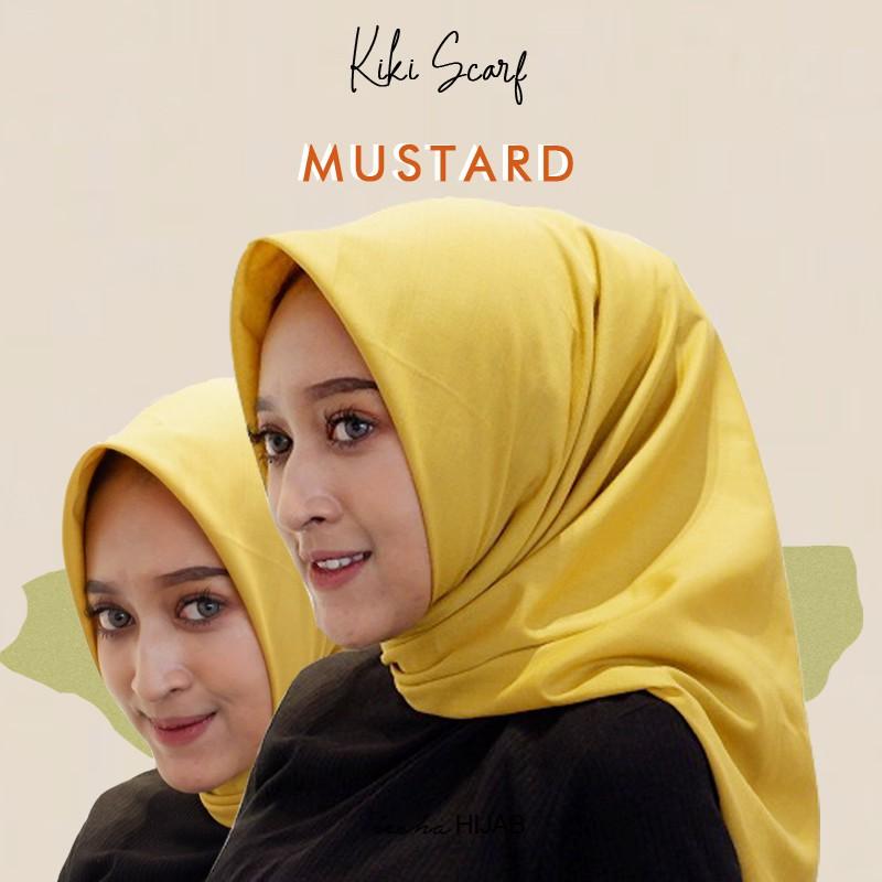 Jilbab Segiempat Kiki Scraft Warna Kuning Mustard Bahan Katun Mudah Dibentuk Tidak Kusut Nyaman Shopee Indonesia