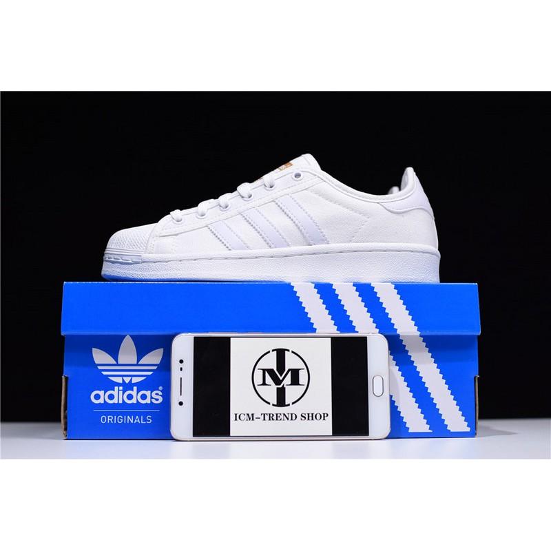 Sepatu Sneakers Olahraga Casual Model Adidas Superstar rize Flat untuk Pria Wanita, s82570