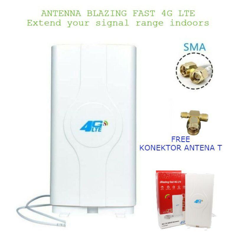 Antena Blazing Fast 4G LTE Router Telkomsel Orbit Star Huawei B311 & B312 Free Konektor T