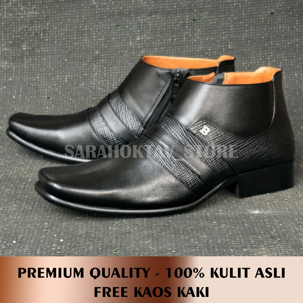 100% Original - Sepatu Formal Klasik Pria Kulit Asli Handmade ... 56518ae439