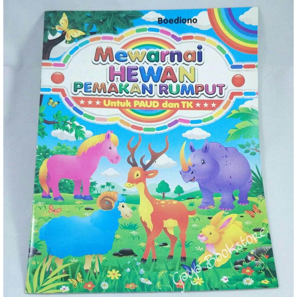 Buku Mewarnai Hewan Pemakan Rumput Besar