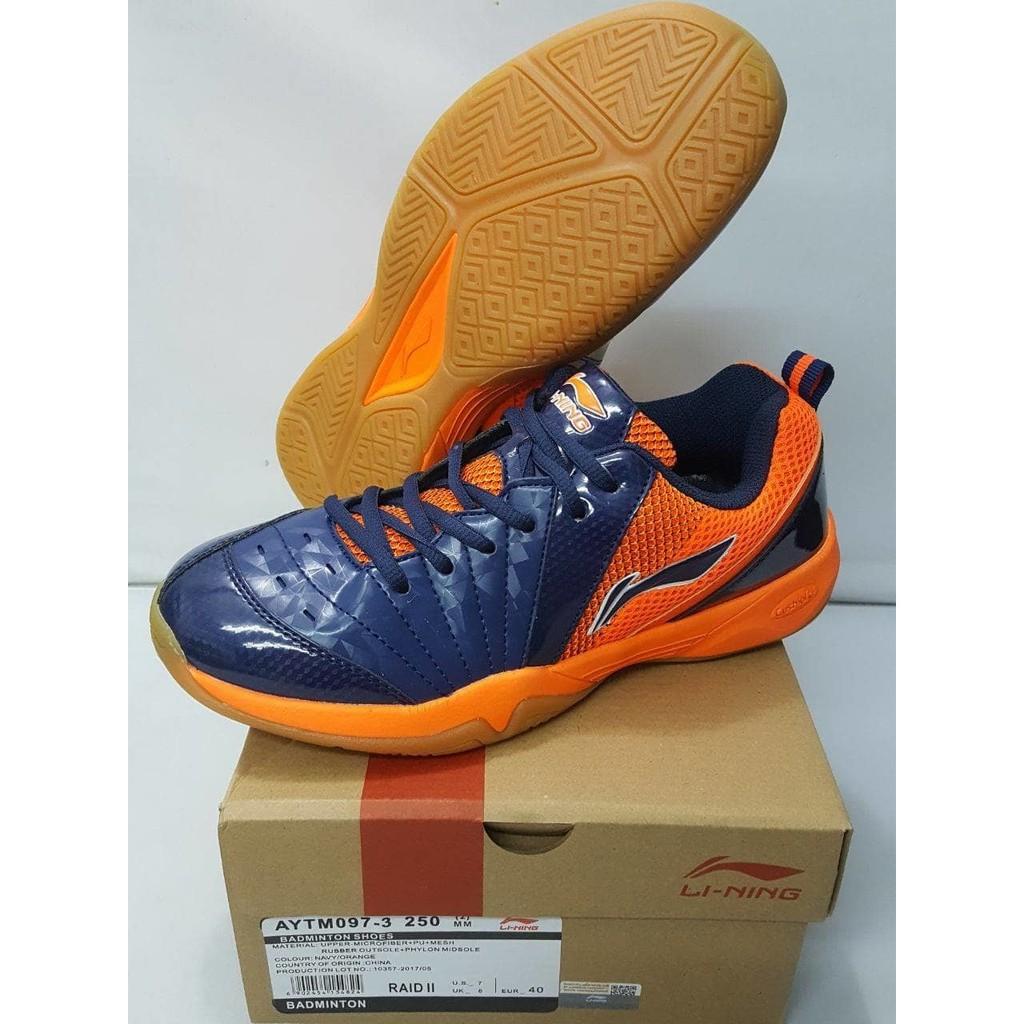Terbaru Original Lining Raid II AYTM097 Sepatu Badminton  fc43049498