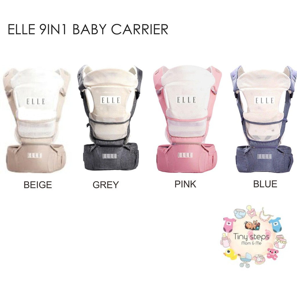 f9216f19bb0 Elle 9 in 1 Baby Carrier With Foldable Hip Seat