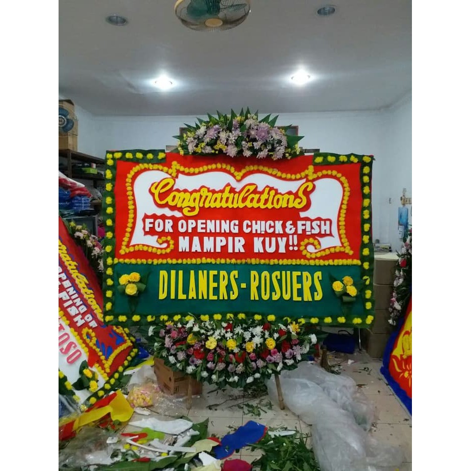 Karangan Bunga Papan Bunga Ucapan Pembukaan Toko Peresmian Gedung Kantor Shopee Indonesia
