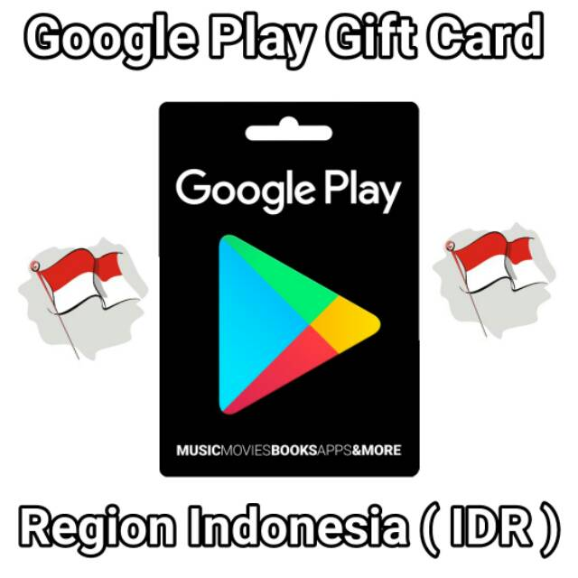 Google Play Gift Card Region Indonesia Idr 20k 50k 100k 150k Voucher Play Store Android Shopee Indonesia