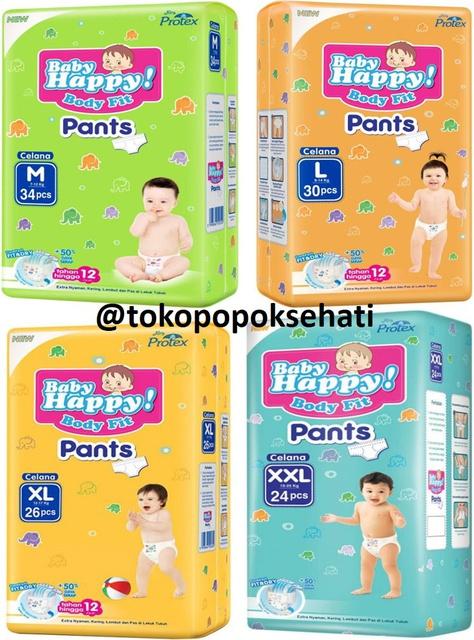 Baby Happy Body Fit Pants Popok Anak Dan Bayi Size L - 30 Pcs | Shopee Indonesia