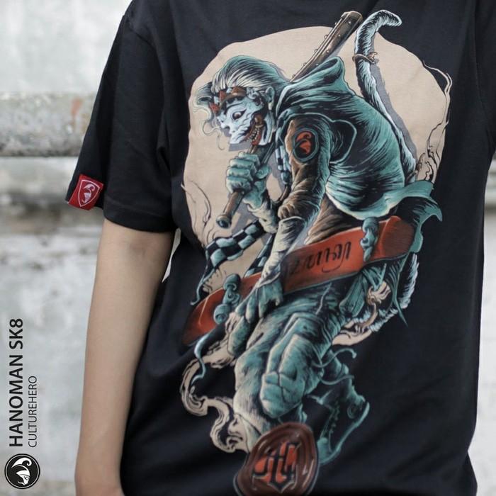 Culture Hero   Kaos Distro Keren Budaya Indonesia: HANOMAN SK8   Shopee Indonesia