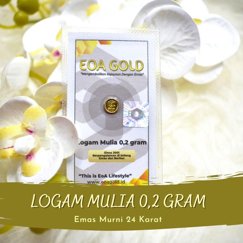 EOA GOLD 0.2 GRAM EMAS LOGAM MULIA ANTAM HARI INI/EMAS ANTAM KARAWANG/EOA GOLD/EMAS EOA MINI GOLD