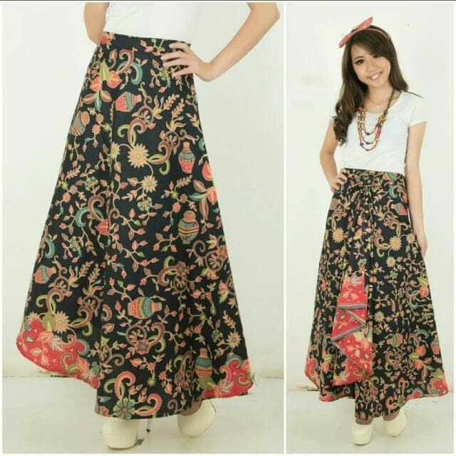Rok Lilit Serut R067 Wrap Skirt Bawahan Batik Wanita Maxi Skirt MURAH | Shopee Indonesia