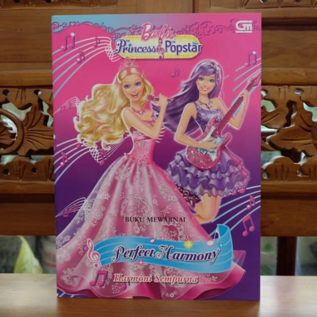 Buku Mewarnai Anak Menggambar Aktivitas Barbie Princess Perfect Harmony Shopee Indonesia