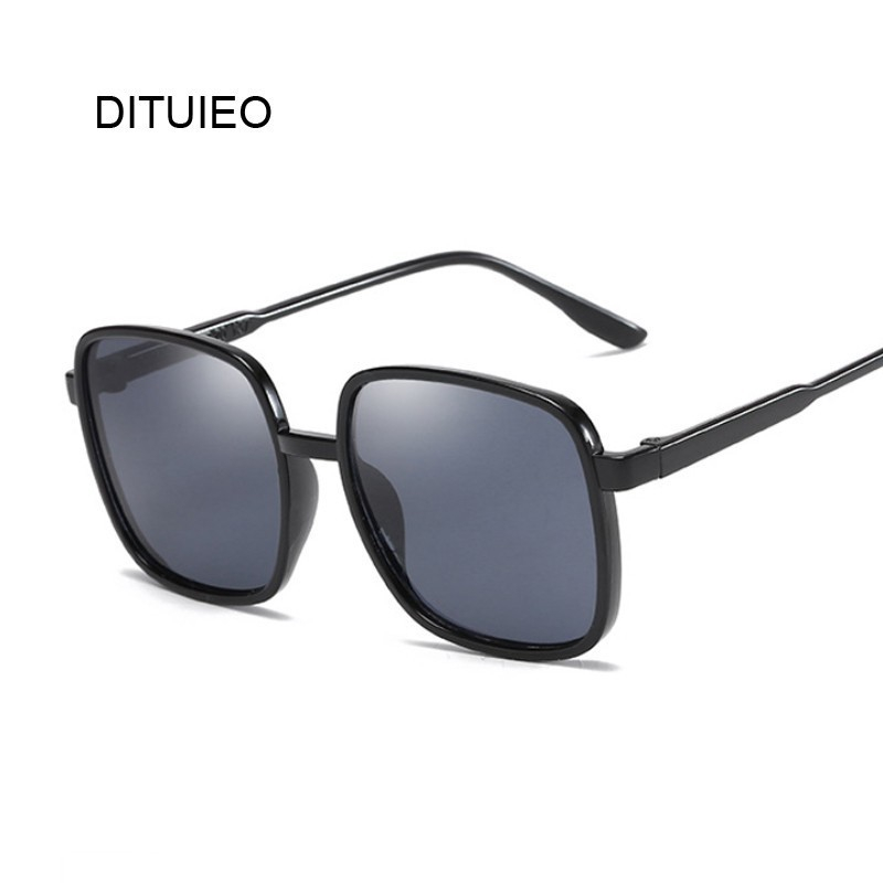 Flat Top Mirrored Sunglasses Women Brand Designer Vintage Luxury Black Sun Glasses Female Square Oculos De Sol Shopee Indonesia