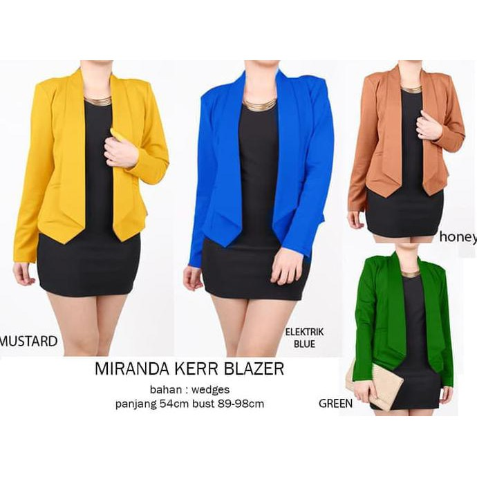 Blazer Korea Wanita / Coat Korea/ Deandra Blazer - Hitam | Shopee Indonesia
