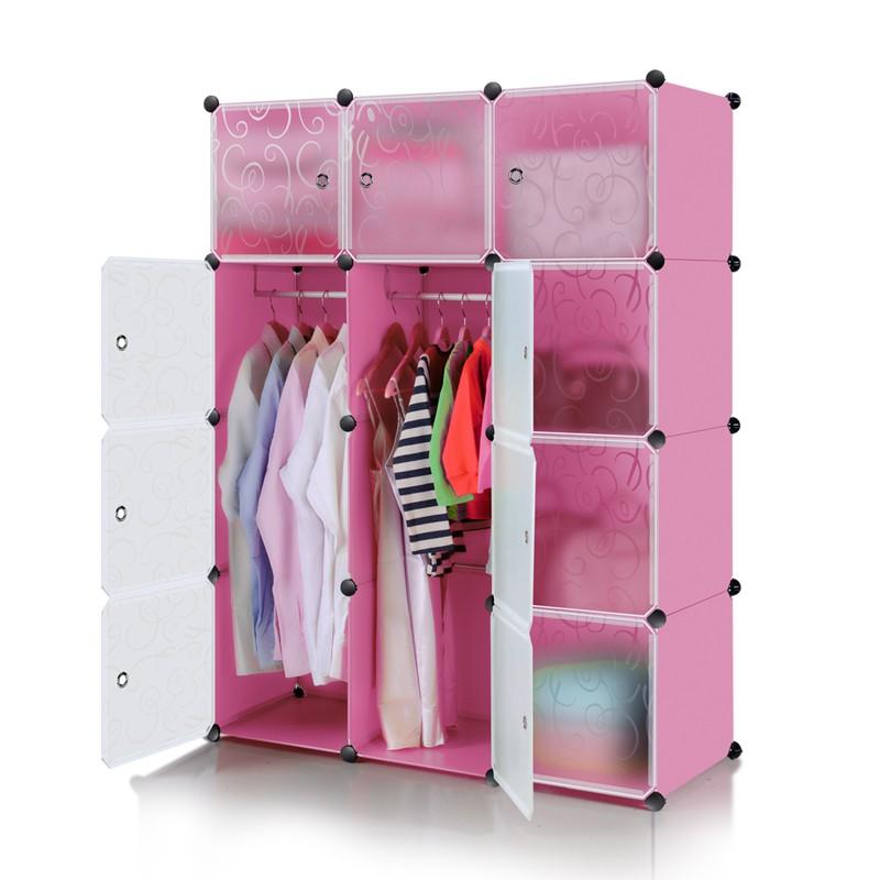 Lemari pakaian plastik rak serbaguna susun lemari baju rak tas 6 pintu/kotak | Shopee Indonesia