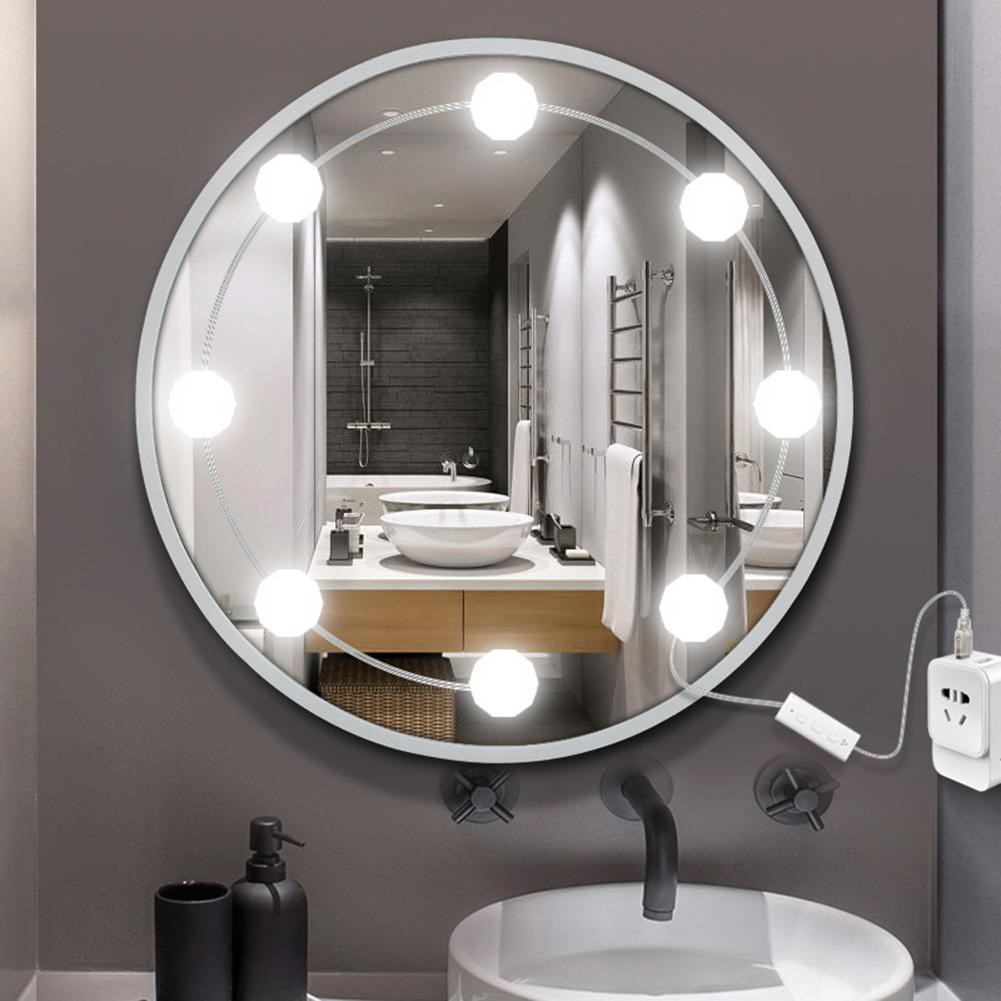 Alert Canling Led 12v Makeup Light 6 10 Bulbs Kit 8w 10w Vanity Mirror Light Stepless Dimmable Wall Lamp For Dressing Table Bathroom Strong Packing Lights & Lighting