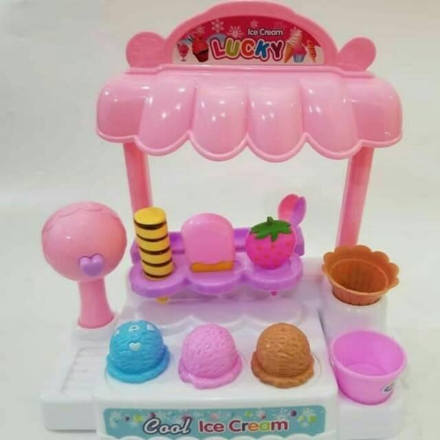 Mainan Anak Ice Cream Store Candy House Bisa Nyala Dan Bunyi Shopee Indonesia