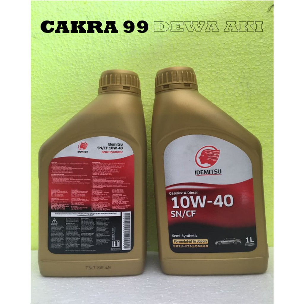 Oli Mobil Idemitsu 10w 40 Sn Cf Semi Synthetic Kemasan 1 Liter 4t Pikoli Gaenwa Blend 10w40 800ml Shopee Indonesia