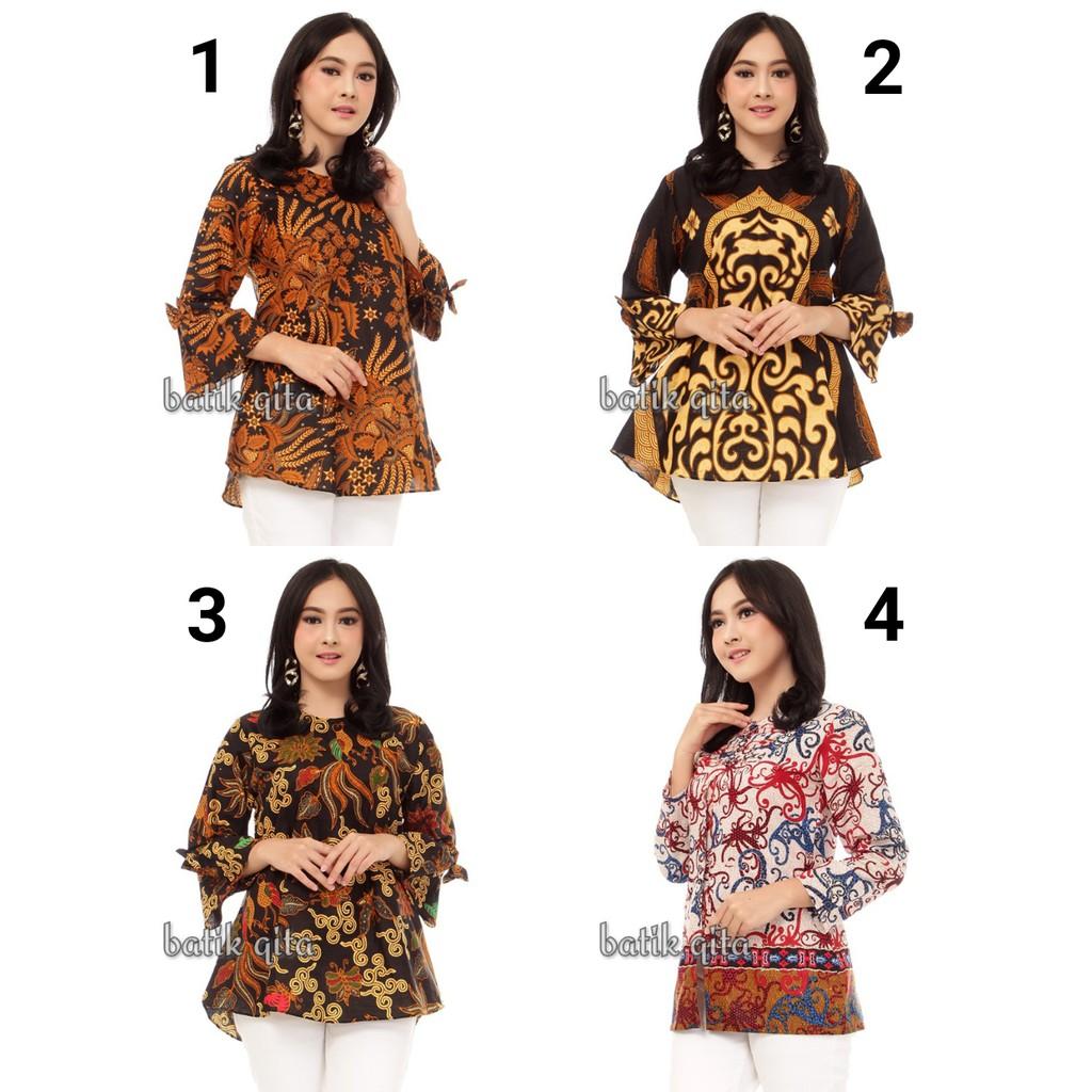 Photo Desain Baju Batik Atasan Wanita | Kerabatdesain