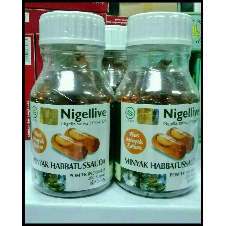 Hot Sale Habbasyifa 200 Kapsul Minyak Habbatussauda Habbasyi Oil Nigellive Isi Shopee Indonesia