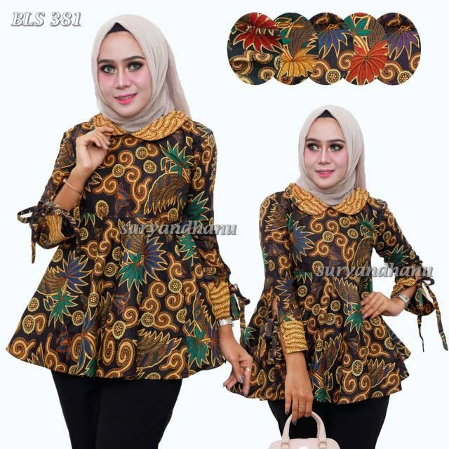 Blus Batik Payung Bls 381 By Suryandhanu