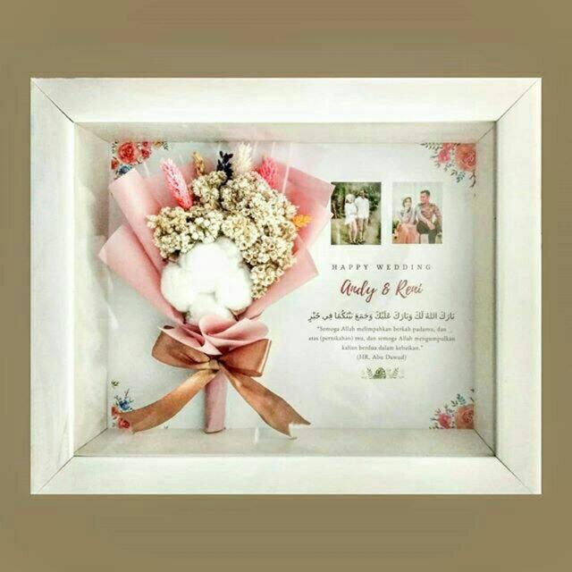 8r Dried Flowers In Frame Kado Hadiah Wedding Ultah Wisuda Valentine Flower Birthday Gift Bingkai Shopee Indonesia