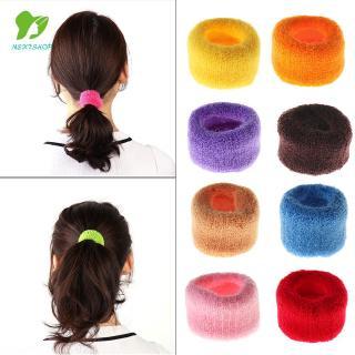 Ikat Rambut Model Lebar Warna Permen Bahan Lembut Untuk Wanita 1