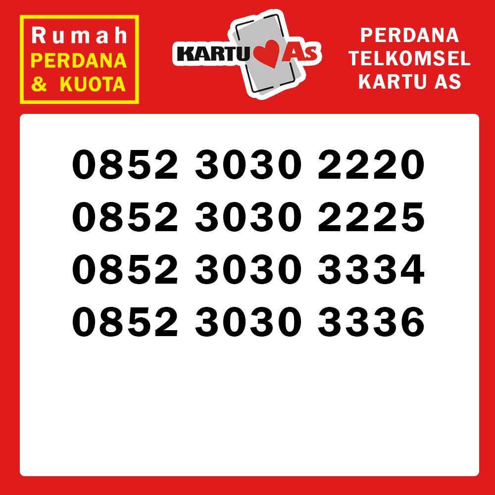 Perdana nomor cantik Telkomsel Kartu As abab 0852 3030 aaab | Shopee Indonesia