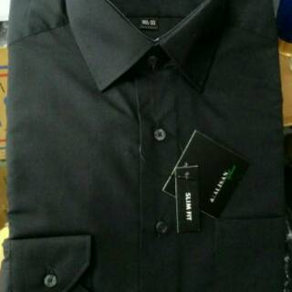 Flash Sale kemeja ALISAN polos panjang Biru muda (b2) dan hitam slimfit Dan Reguler shock price - only Rp102.892