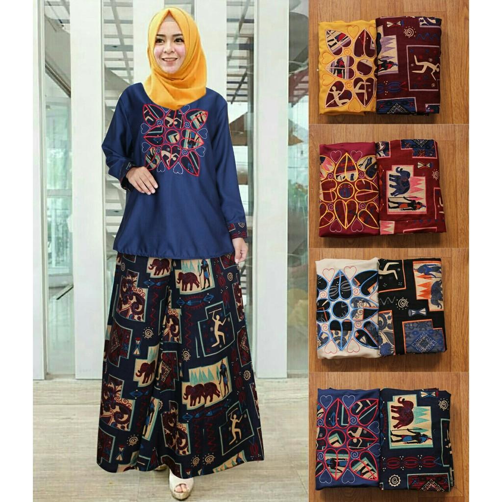 Dapatkan Harga Setelan Kulot Hijab Atasan Diskon Shopee Indonesia Asana Panawangan Woman Blouse Batik Wanita Beige