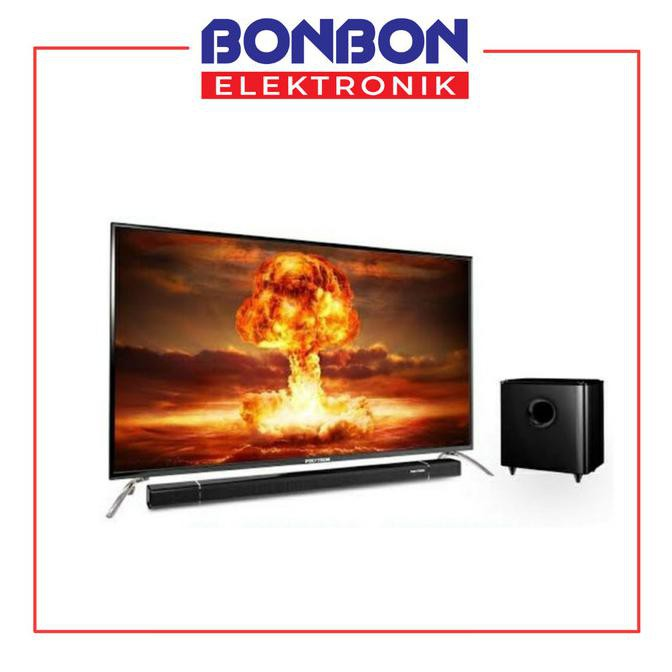 Polytron Led Tv 50 Inch 50Bs873 Cinemax Soundbar Fhd