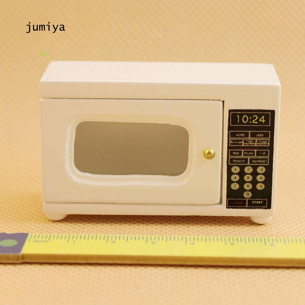 White Microwave Oven for 1//12 Dollhouse Kitchen Accessory Miniature