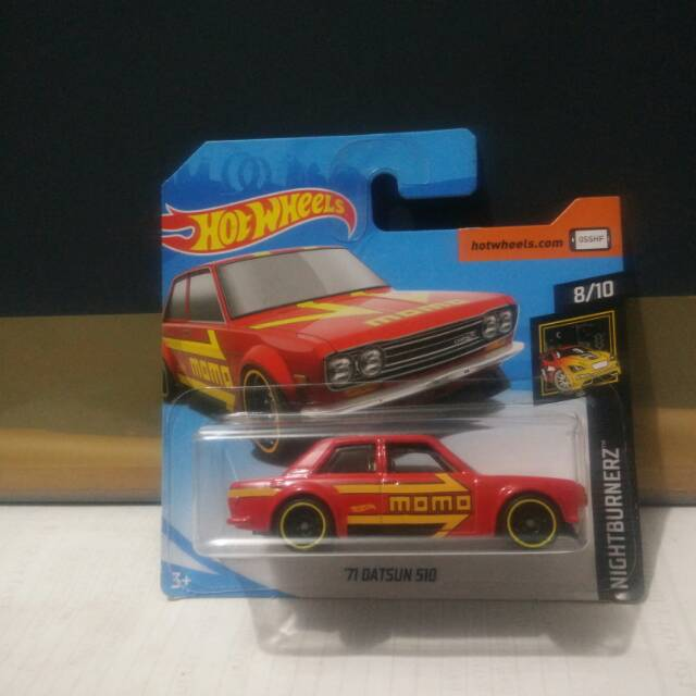 2019 Hot Wheels ~ NIGHTBURNERZ ~ /'71 DATSUN 510 RED NEW!