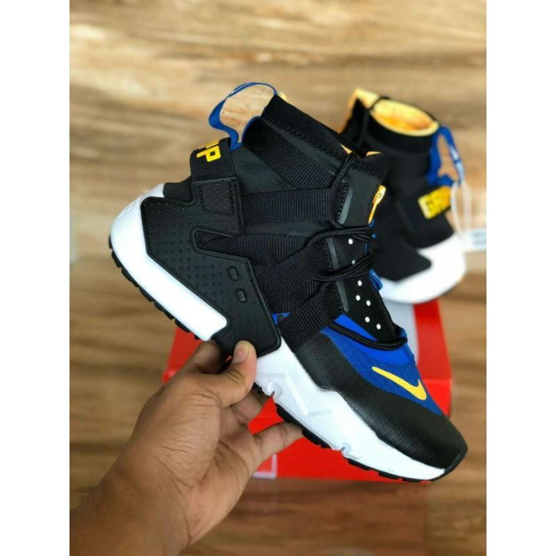 Nike Huarache Ultra Grip Black/Blue For Man Premium Quality