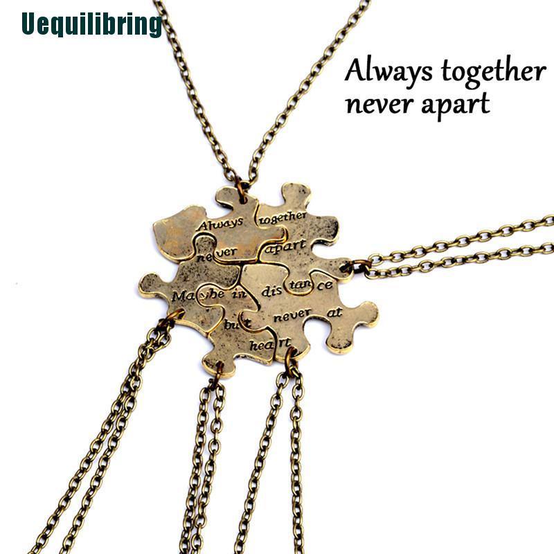5 / 1 Set Kalung Liontin Puzzle Jigsaw Interlocking Untuk Persahabatan