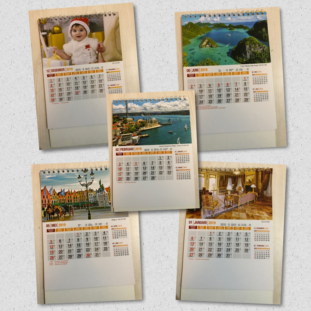 Kalender Meja 2019 Kalender Duduk Mini Lucu Bear Totoro Penguin Beruang  Unik GH 301405  c7a86ccbd9