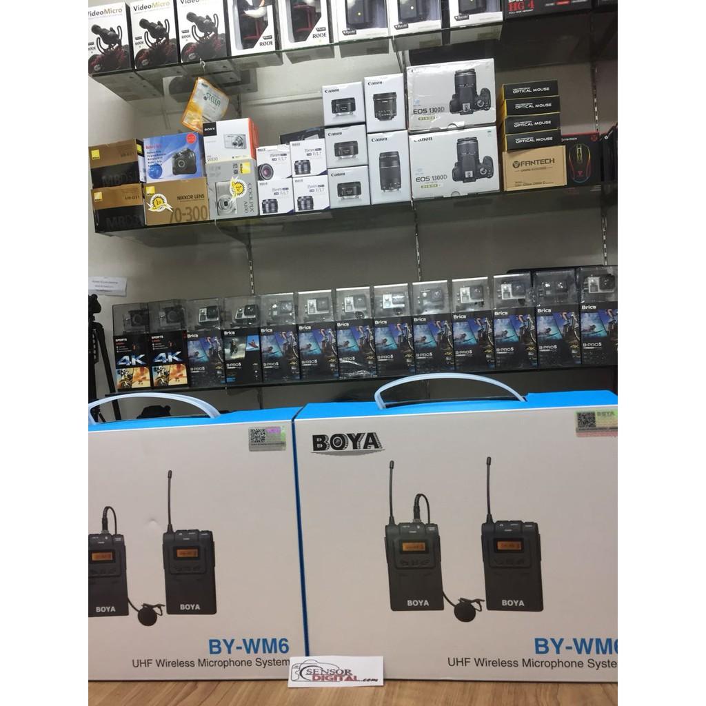 Boya Wireless Microphone By Wm6 Uhf Shopee Indonesia Combo Mic Mm1 Dan M1