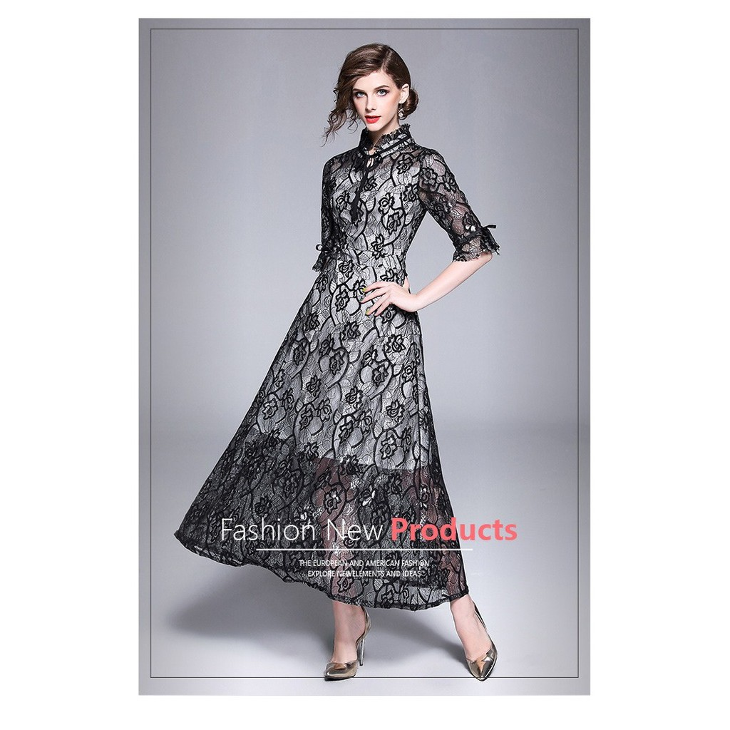 Price Checker Tf35093 Formal Party Long Dress Pesta Panjang Brokat