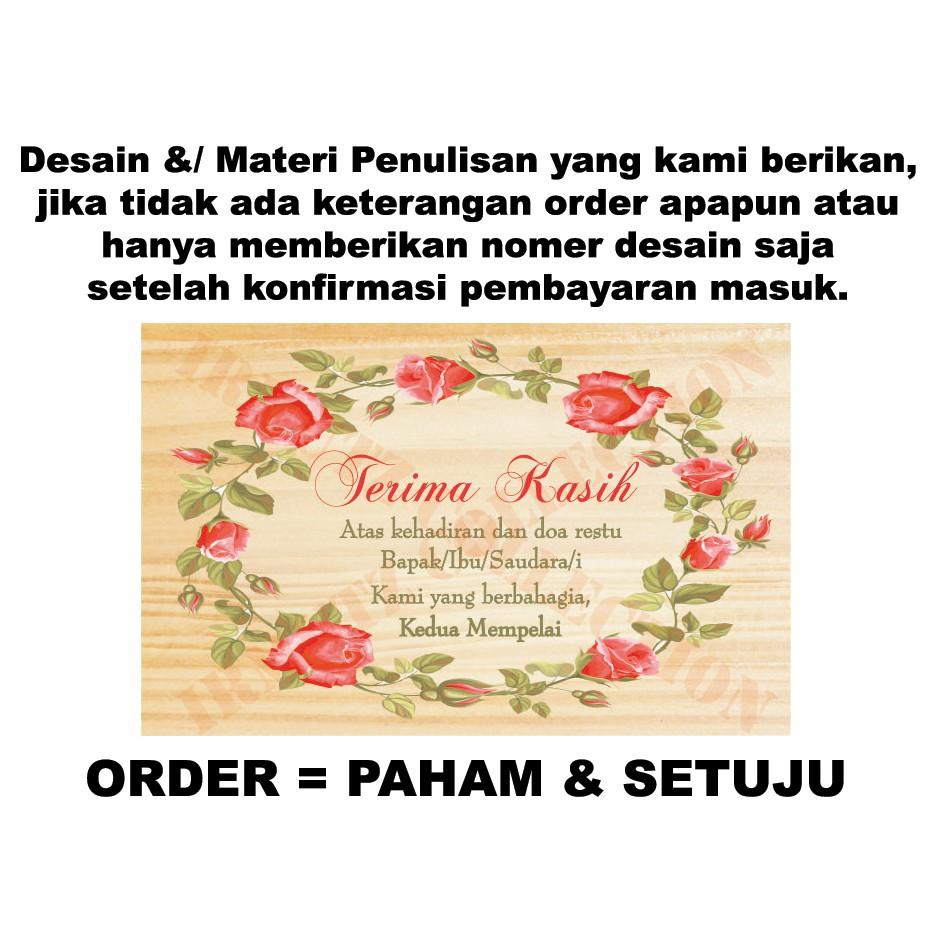 Kartu Ucapan Terima Kasih Full Colour Souvenir Nikah Shopee Indonesia