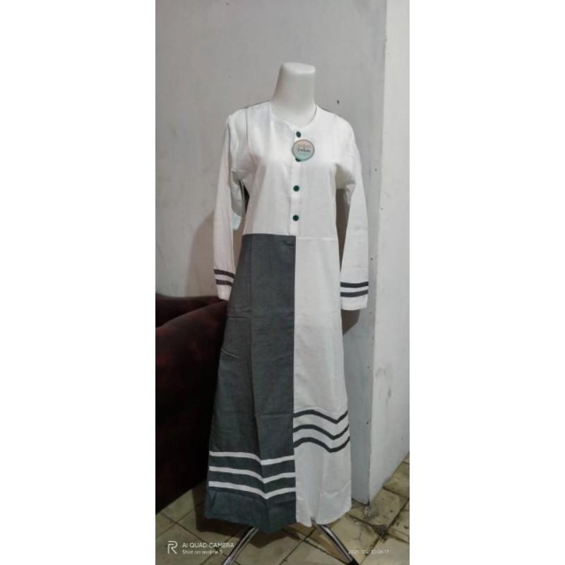 gamis adem/baju harian santriwati/baju Gontor/baju harian pondok/gamis syar'i/jubah remaja/gamis