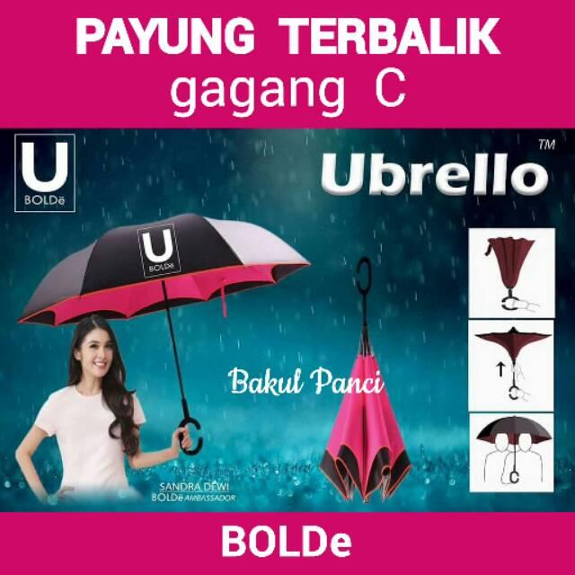 Payung Terbalik Kazbrella 01 Gagang C Reverse Umbrella Lipat Mobil | Shopee Indonesia