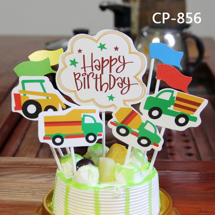 Tlol129 Cake Topper Cars Car Mobil Kids Birhtday Party Kue Ulang Tahun