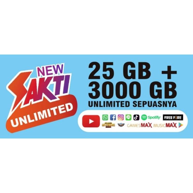 telkomsel 25gb + 3000gb unlimited