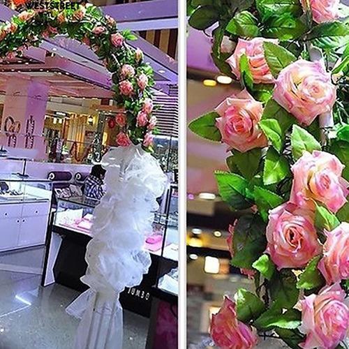 [Bayar Di Tempat] Sutra buatan Bunga Mawar Ivy Vine Hanging Garland Pernikahan Dekorasi Rumah | Shopee Indonesia