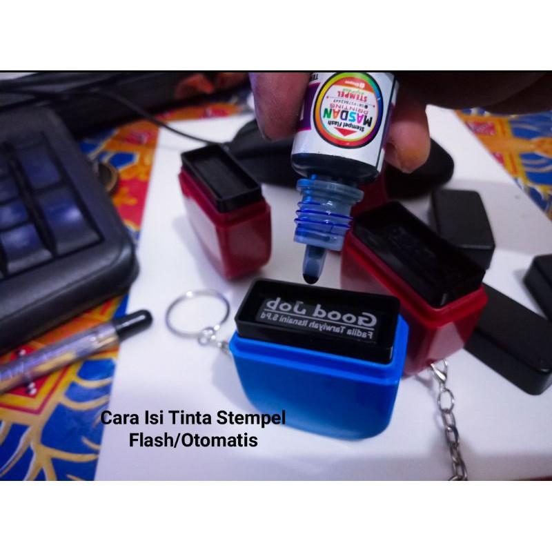 Tinta Stempel Flash Tinta Refil Stempel Otomatis Shopee Indonesia