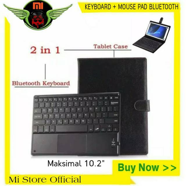 Keyboard Mouse Pad Bluetooth Xiaomi Mi Pad 4 Plus Universal For 10 1 Inch Tablet Keybord Papan Shopee Indonesia