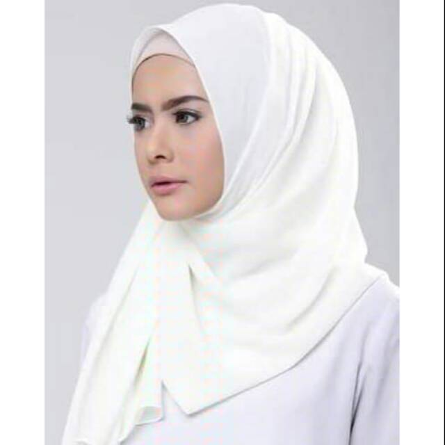 Pashmina Diamond Putih Shopee Indonesia