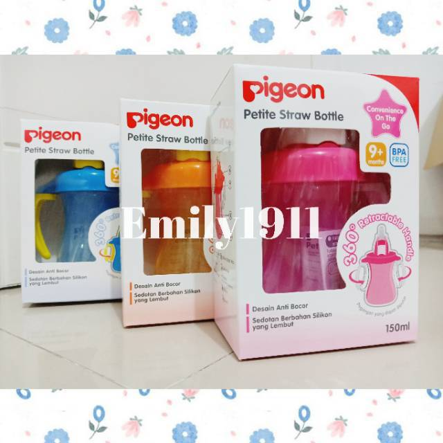 Pigeon Petite Straw Bottle / Cup 150 ml | Shopee Indonesia -