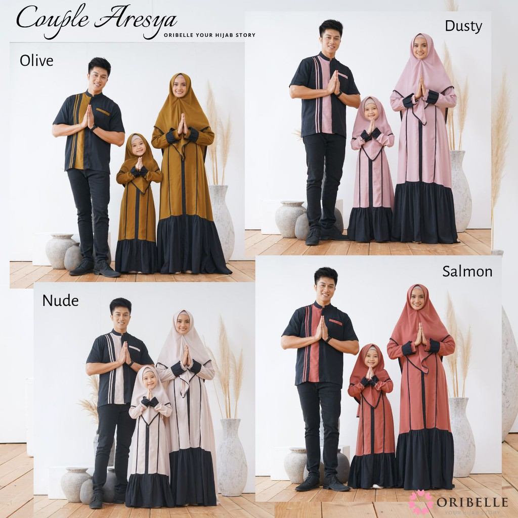 ARESYA DRESS COUPLE  Gamis Family Original by ORIBELLE