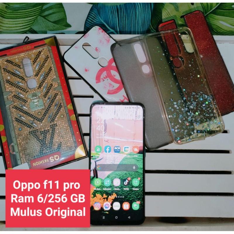 Oppo f11 Pro Ram 6/256 GB bekas mulus original bonus casing casing cantik